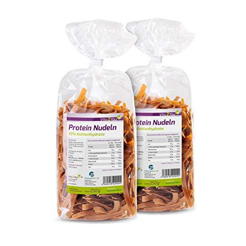 Protein Nudeln - Neue Rezeptur - 61% Eiweiss - Nur 15% Kohlenhydrate - Eiweiß Pasta - Made in Germany (2 x 250g)