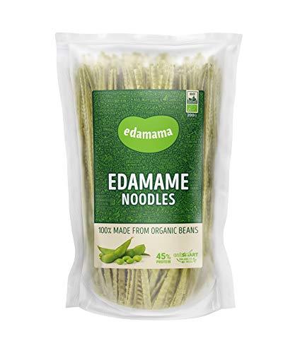 Edamama - Low-Carb High-Protein Pasta aus 100% Bio-Bohnen - Edamame Noodles Nudeln - Bio, Vegan, Glutenfrei, 45% Protein (6 x 200g)
