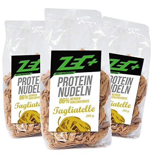 ZEC+ PROTEIN NUDELN | leckere und kalorienarme Pasta mit Proteinen | kohlenhydratarme Eiweißnundel | hoher Ballaststoffanteil | 3x 250g