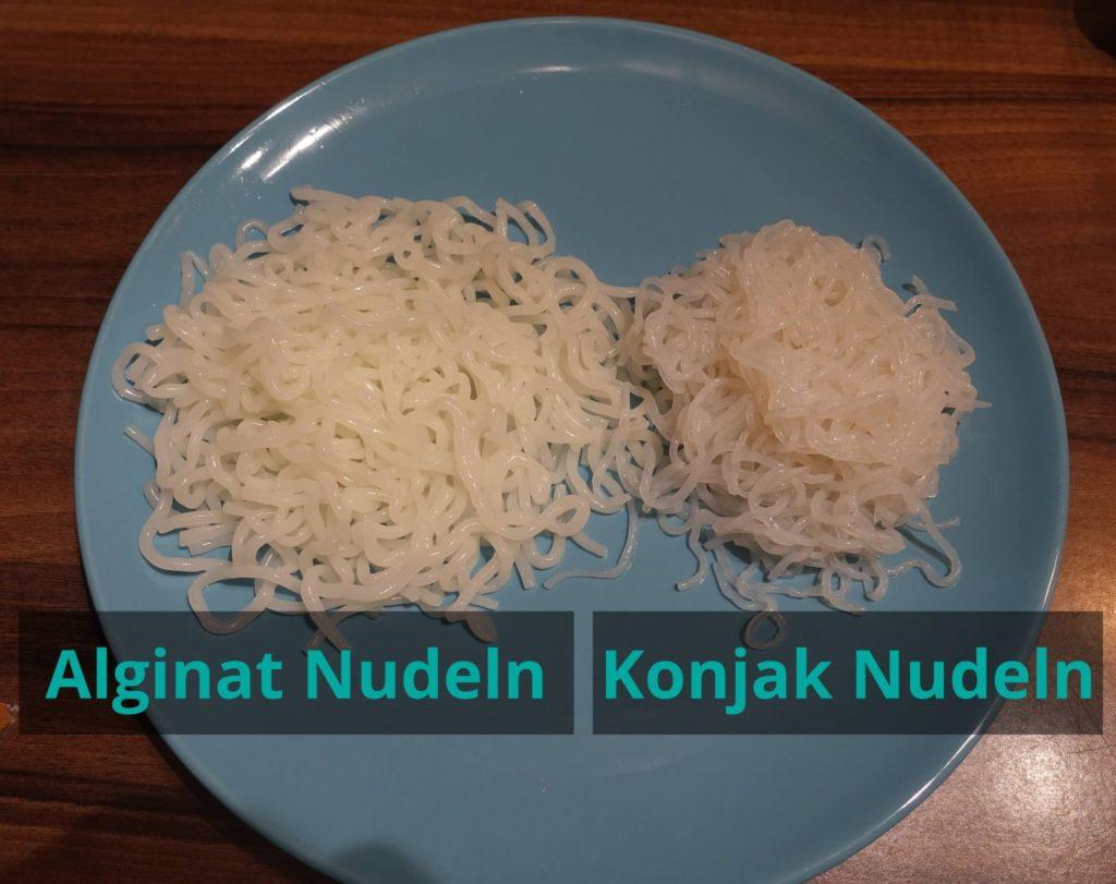 Alginat Nudeln vs. Konjak Nudeln